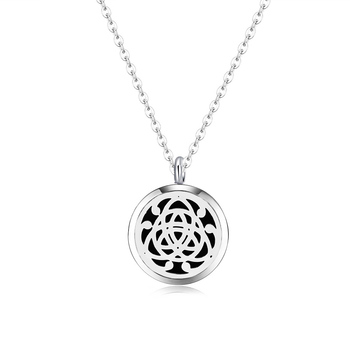 10pcs silver color 2016 newest (30mm)Aromatherapy / Essential Oils 316L S.Steel Perfume Diffuser Locket Necklace