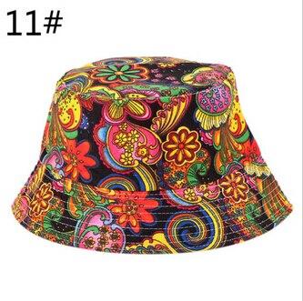 Outdoor Unisex Floral Sun Hats Funny Summer New Holiday Novelty Beach Cap Bucket