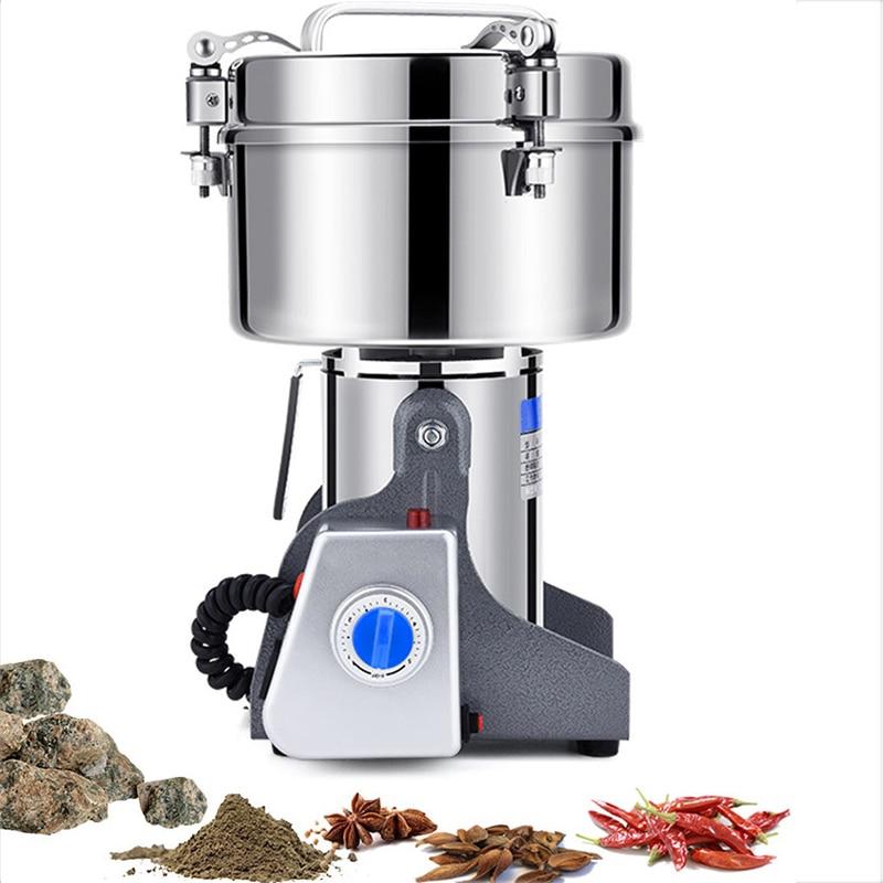 Mill 2500g 4500W Swing Type Electric Dry Food Grinder Coffee Grains Pepper Stainless Steel Grinding Powder