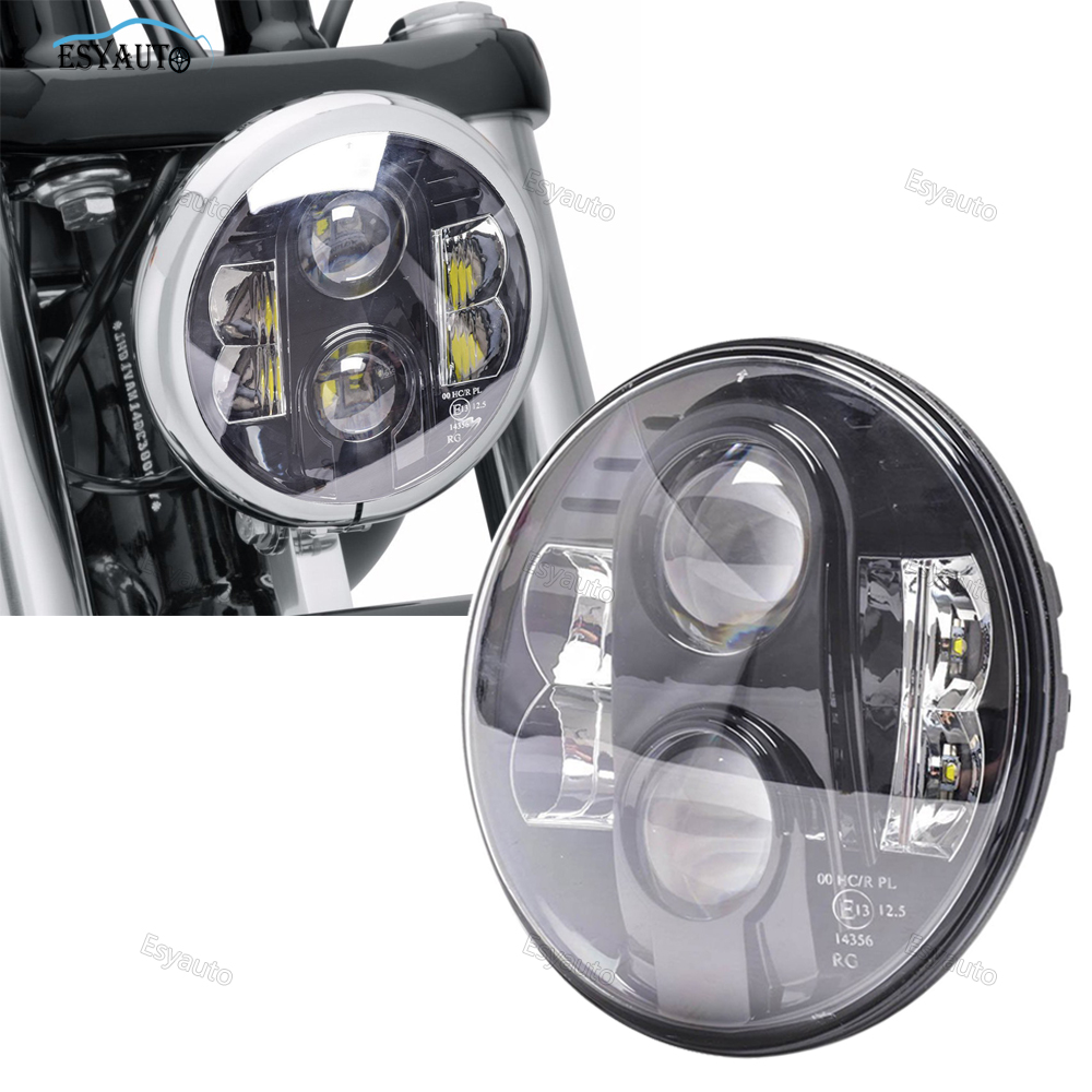 Hot sale !E13 Emark approved 7inch 80w hi lo beam Led Daymark motorcycle 7 Headlight for Harley Davidson