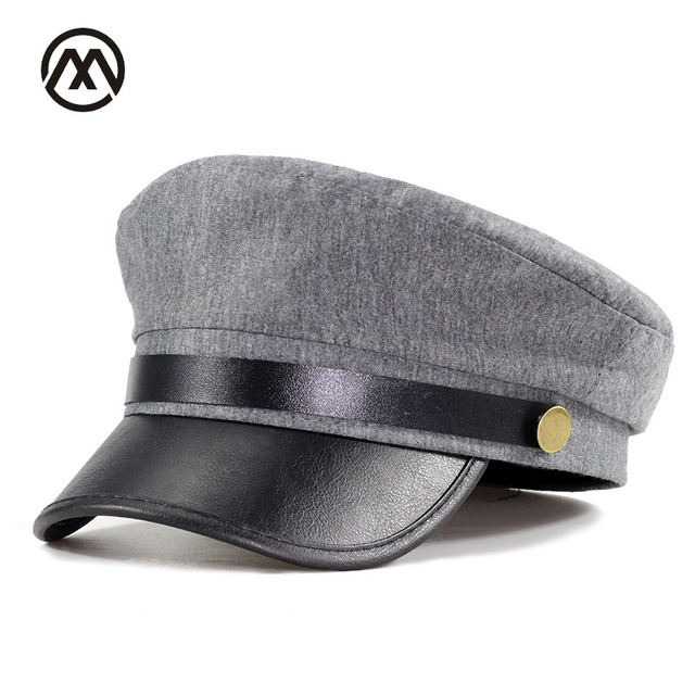 the best attitude d2e14 5561f ... shop best selling adult high quality leather flat bottomed caps female  fashion navy hats d9b02 26144