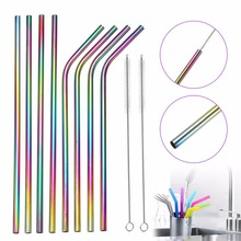 Set of Reusable Stainless Steel Straws