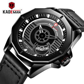 2020 New Design Casual Mens Watch Waterproof Sport Watch TOP Luxury KADEMAN Automatic Date Military Wristwatch Relogio Masculino