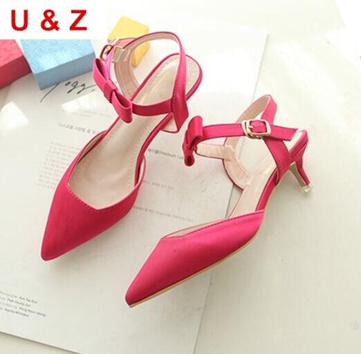 Fuchsia Silk Satin wedding shoes 40mm kitten heels,Rose/Black/Nude satin Low thin heel pumps women party shoes evening shoes