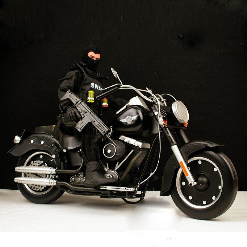 クール! 鉄オートバイ脂肪少年ハレー金属機関車クリエイティブ装飾品 L39CM * W18CM * H21CM 装飾オフィスデスク  グループ上の おもちゃ & ホビー からの アクション & トイ フィギュア の中 1