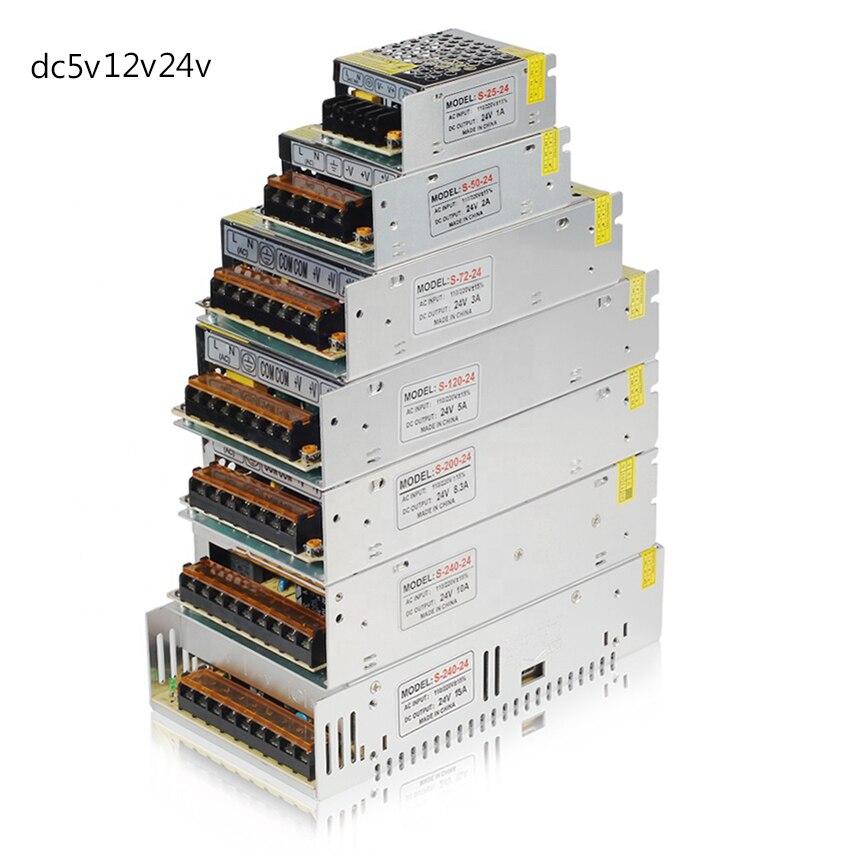 AC 110V-220V TO DC 5V 12V 24V 1A 2A 3A 5A 10A 15A 20A 30A 50A Switch Power Supply Driver Adapter Transformer For Led Strip Light
