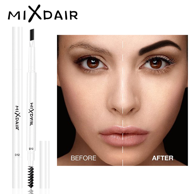 MIXADIR White Waterproof Eyebrow Pencil Long-lasting Eyebrow Makeup Automatic Eye Brow Pen With Brush 4 Colors Eyebrow Enhancer 2