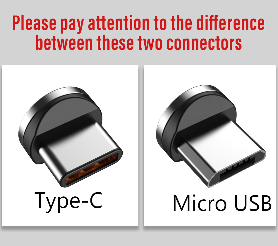 NOHON 90 Degree Magnetic Cable USB Type C Charging For SamSung S8 Plus Magnet Fast Charge For Xiaomi 5 6 Huawei P9 Charger Cable (2)