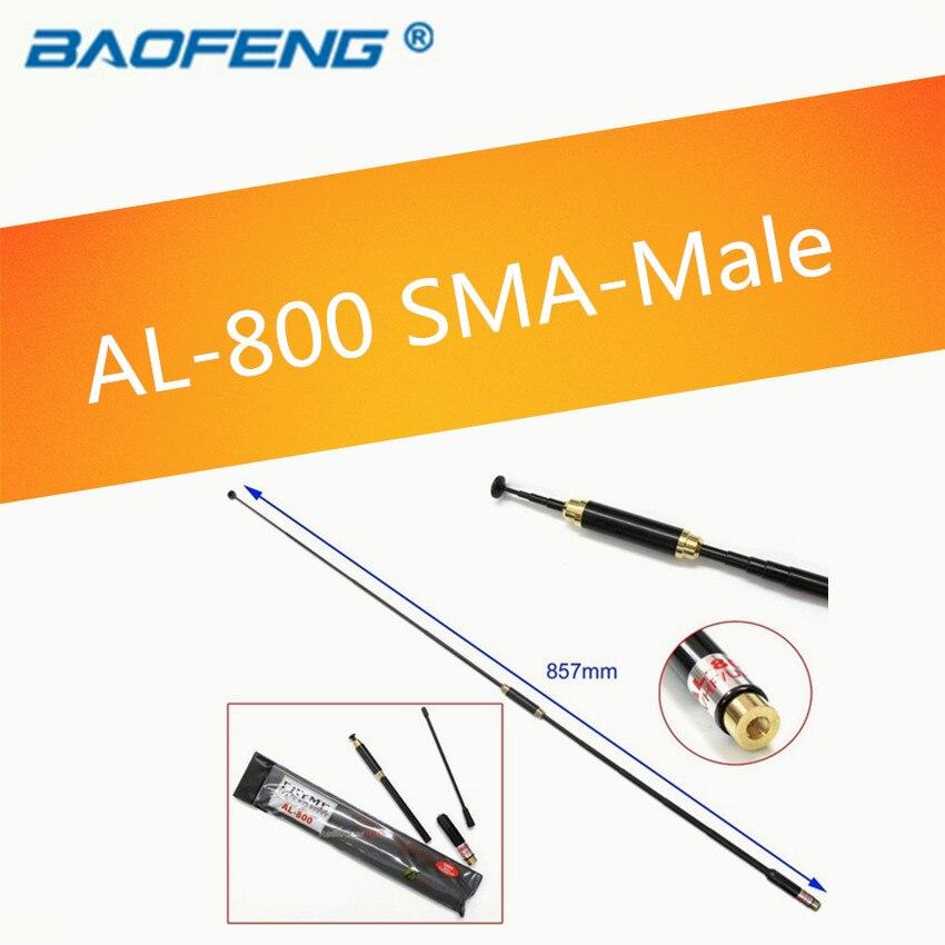 imágenes para AL-800 Sma-macho Antena Telescópica de doble banda de walkie talkie TONFA 985 Yaesu VX-3R TH-F5 TYT BAOFENG UV-3R/6R/7R radio de dos vías
