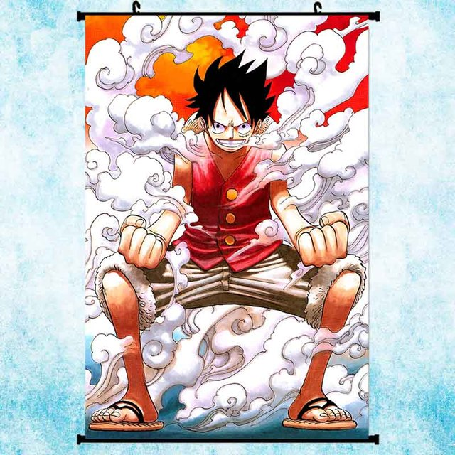 One Piece Art: One Piece Monkey D Luffy Hot Anime Art Silk Poster Wall