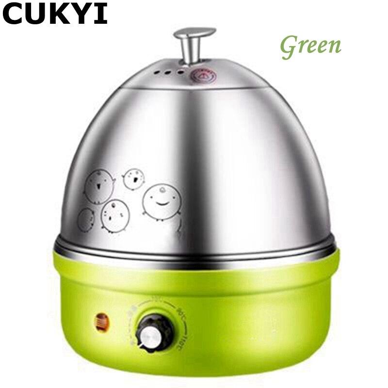 CUKYI 380 W 220 V/50Hz 7 Oeufs Diverses Couleurs Multifonctionnel Électrique Chaudière En Acier Inoxydable Mini Vapeur Cuisine cuisson Outil