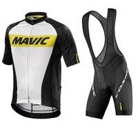Mavic Cycling Jersey 2017 Summer Team Short Sleeves Quick Dry Cycling Set Bike Clothing Ropa Ciclismo
