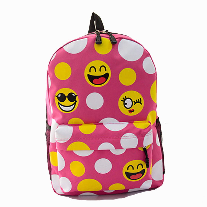 f3cc3523ba 2015 New Emoji Backpack Canvas QQ Expression Printing backpacks Cute  backpacks Original Design Women Backpack School Rucksack-in Backpacks from  Luggage ...