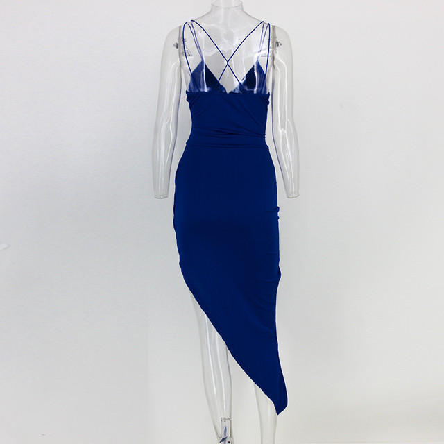 Bluecross front cami strap party dress