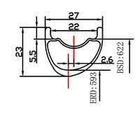 285g 29er MTB 27mm asymmetric carbon rim clincher tubeless 23mm deep UD 3K 12K matte glossy 24H 28H 32H 29er mountain wheel|Bicycle Wheel|   -