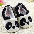 Infant Toddler Fleece Panda Bootee Punto Los Zapatos del Pesebre Zapatos de Dibujos Animados Elástica Suave