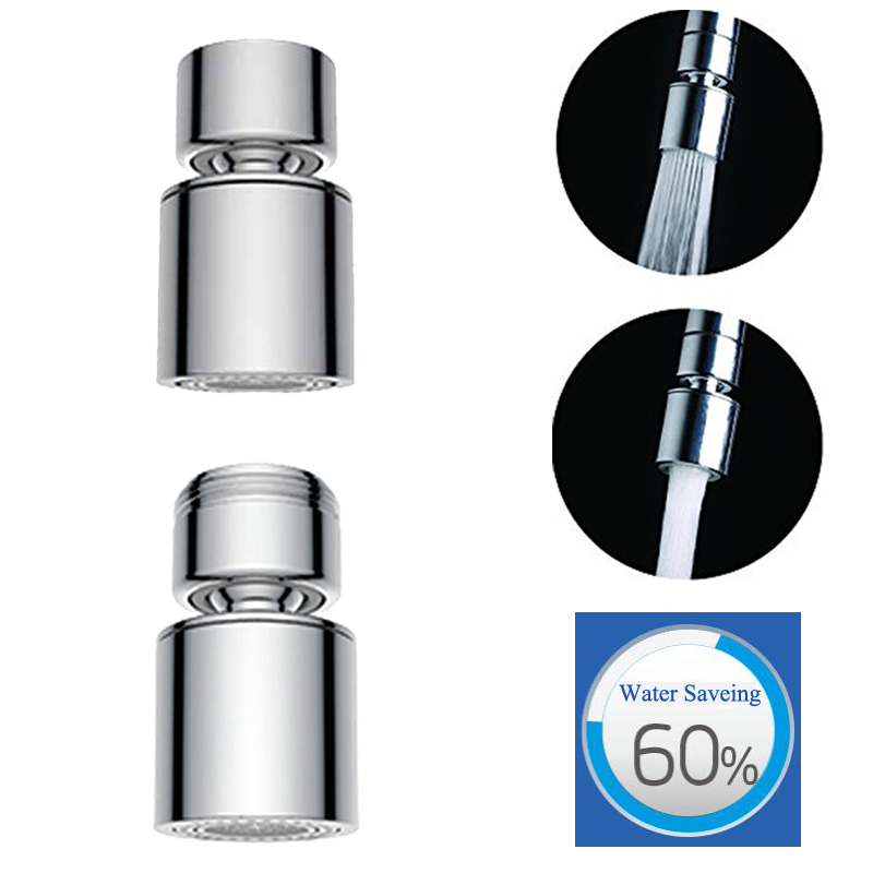 AODEYI 2-Flow Aerator Water Saving Multi-function Faucet Aerator 360 Degree Swivel Bidet Kitchen Faucet Tap Sprayer