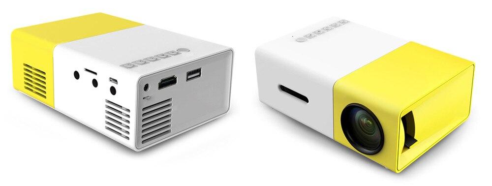 YG-300 YG300 YG310 LED 400-600LM 3.5mm Audio Proyector Portátil 320x240 Píxeles