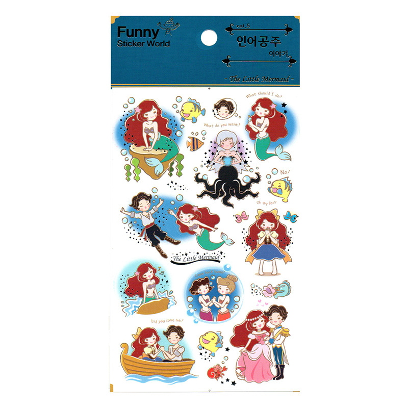 1pcs Kawaii Stationery Stickers Mermaid Diary Planner Decorative Mobile Stickers Scrapbooking DIY Craft Stickers