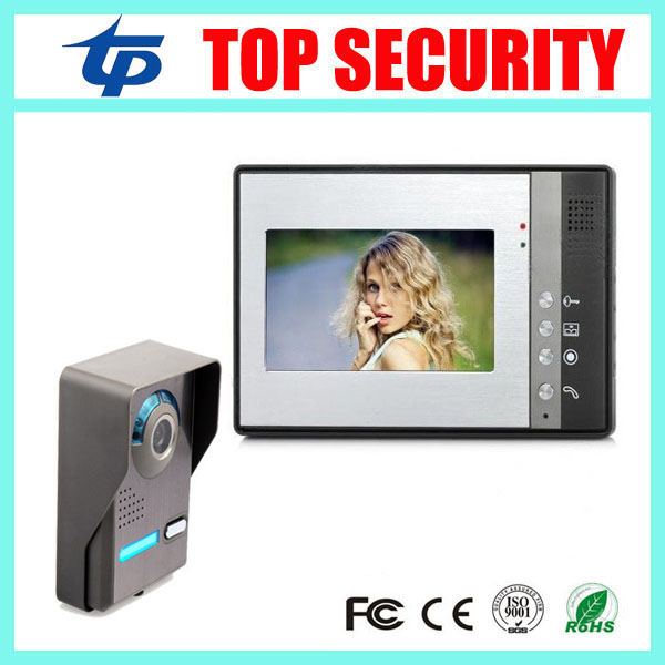 7 Inch Night Vision Digital Color Video Door Phone Intercom Doorbell Doorphone System IR Camera Door Access Control Video Phone 7 inch password id card video door phone home access control system wired video intercome door bell