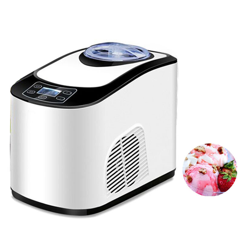 Jamielin Full automatic Self Cooling Ice Cream Machine Multifunctional Fruit Ice Cream Maker For DIY Homemade Dessert