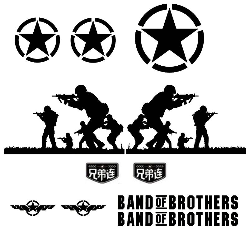 Band of Brothers Vinyl Sticker Side Skirt Decal Whole Body