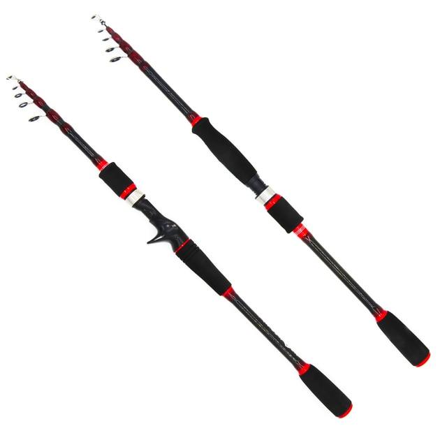 portable retractable spinning fishing rod short ultralight travel bait casting lure rod boat rock sea stick pesca pole 1.8 2.7m
