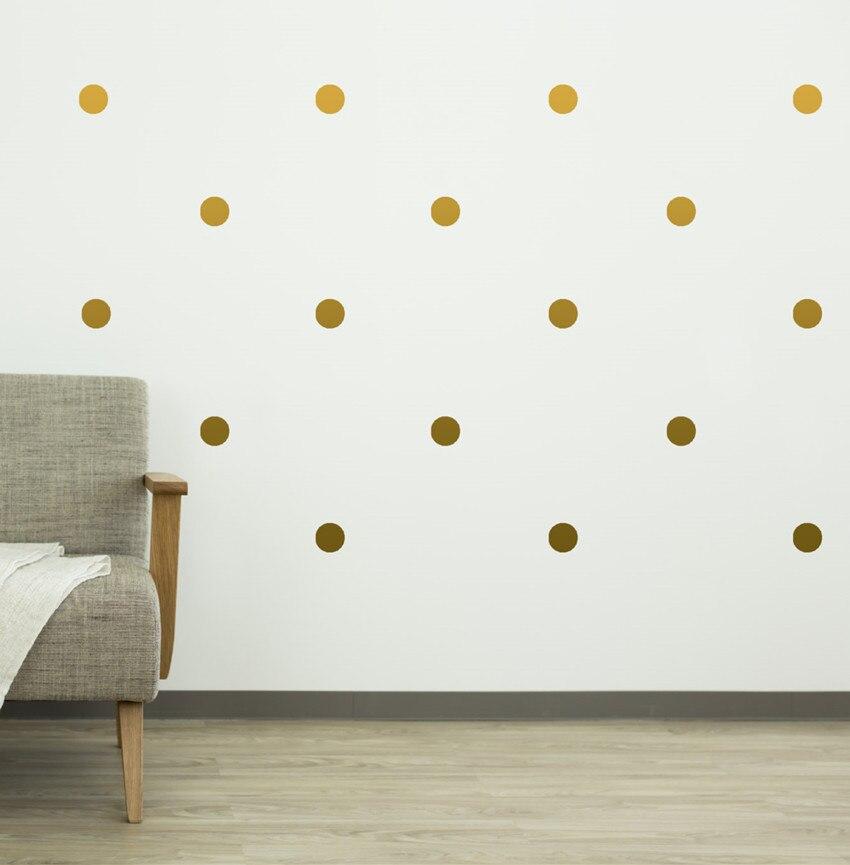 70 copë-4cm i heqshëm Gold Polka Dots mur vinyl Decals, Qarqet - Dekor në shtëpi - Foto 3