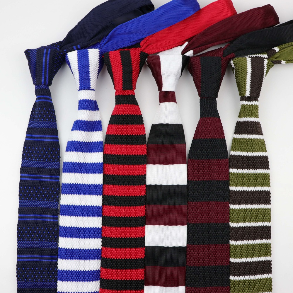Fashion Men's Colourful Tie Knit Knitted Ties Necktie Cross Striped Color Narrow Slim Skinny Woven Plain Cravate Narrow Neckties