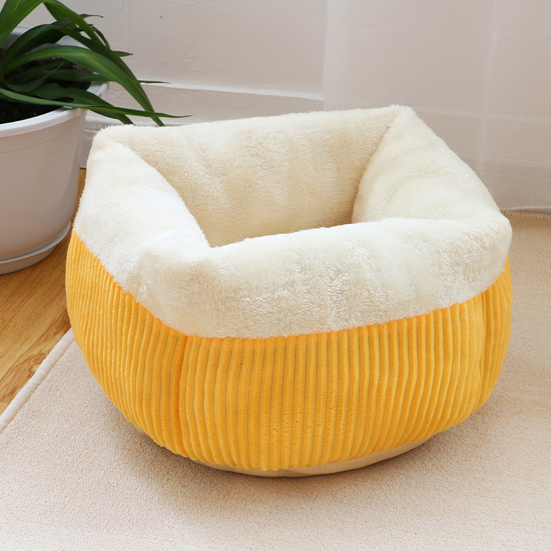 Winter Warm Cat Bed Cat House Soft Durable Pet Bed For Kitten For Puppy Small Dog Kennel Soft Durable Cat Sleeping Bed cama gato