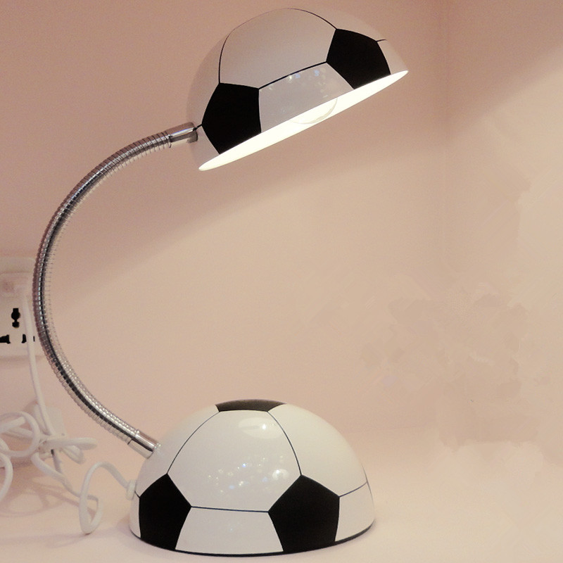 Boy girl football lamp cartoon modern minimalist creative children learning lamp eye protection table lamp bedroom bedside