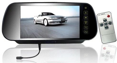 7 Polegada TFT LCD Monitor de Visão Traseira Do Carro Espelho Do Bluetooth-Botão de toque-Auto Veículo Estacionamento Monitor Retrovisor Para Câmera Reversa