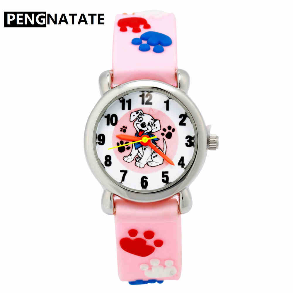 PENGNATATE Girls Watch Cartoon Silicone Strap Waterproof Children Watches 3D Bracelet Kids Wristwatch Gift Hot Sale Quartz Clock hot sale star wars boys cartoon watch lovely girl children watches pu strap quartz wristwatch kids dress rectangular clock