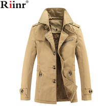 Riinr 2018 New Arrival Fashion Hooded Winter Jacket Men Thick Warm Cotton Parkas Coat Outerwear Zipper Winter Jackets Mens Parka