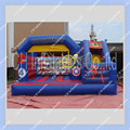 New Design Superhero Inflatable Bouncer with Slide/ 4.6m by 4m/Commerical quality for rental business/Superhero Castle