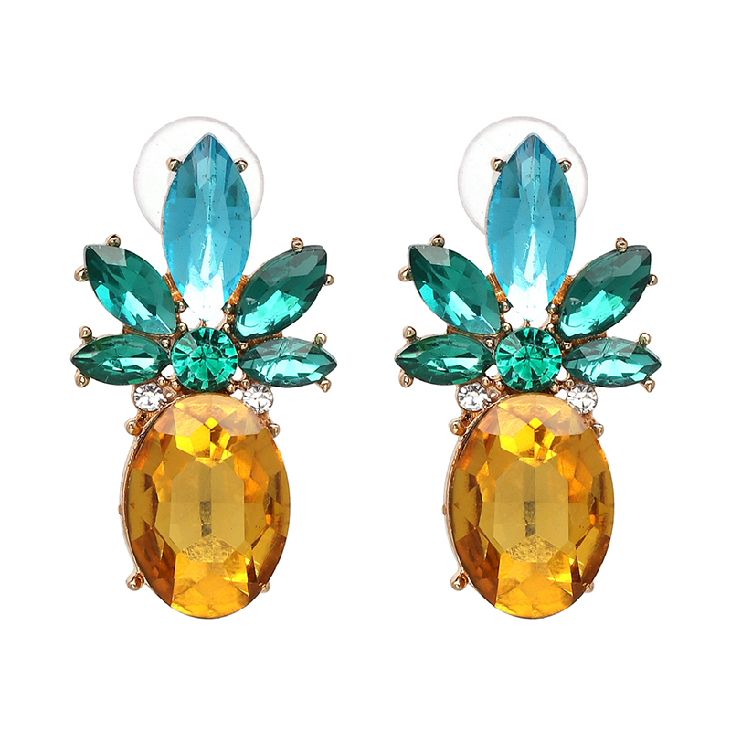 JUJIA Good quality hot sale classic design statement fashion crystal drop Earrings for party wedding earring wholesale