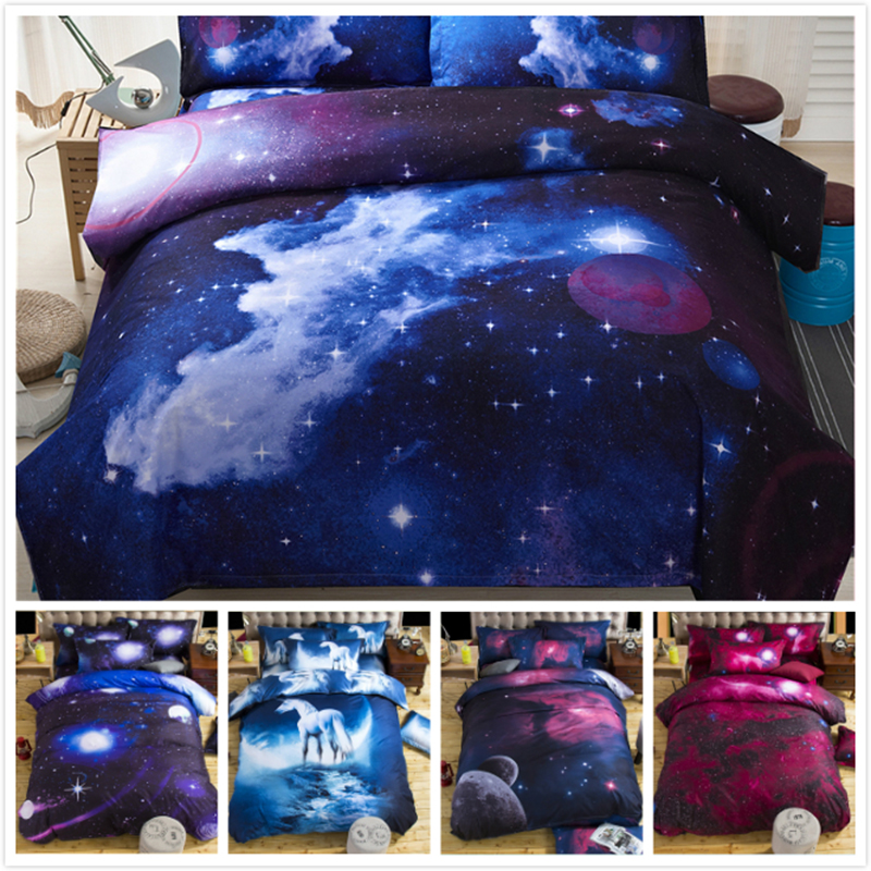 New HD 3d bed linens duvet cover set cotton bedding set Single Full Queen Size 2/3/4pc adult bedclothes Quilt Comforter Case Boy