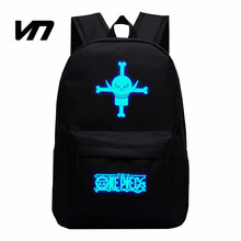 VN Big Beard Backpack One Piece Cartoon Backpack Bag Luminous Backpacks Edward Newgate Cosplay Star Canvas Bags Luffy Backpack