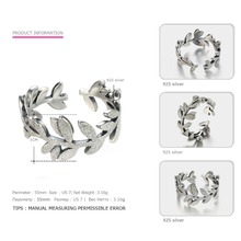 Tardoo Genuine Sterling Silver Flowers Finger Ring Dazzling Daisy Meadow Stackable Ring For Women Wedding Silver 925 Jewelry