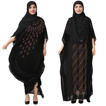 National Style Dubai Abaya Women Muslim Dress Loose Abaya Kaftan Turkish Muslim Women Long Dress Turkish Islam  Muslim Dress A