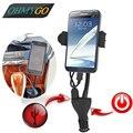 Универсальный автомобильный держатель телефона горе стенд с двумя USB устройство держатель для Iphone 5 Samsung Xiaomi сотовый телефон GPS площадку поддержка стенд