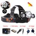 Best 6000 Lumen 3x C-XM-L T6 LED Headlamp Headlight 4Modes Caming Hunting Head Light Lamp +2*18650 Battery + AC/Car Charger