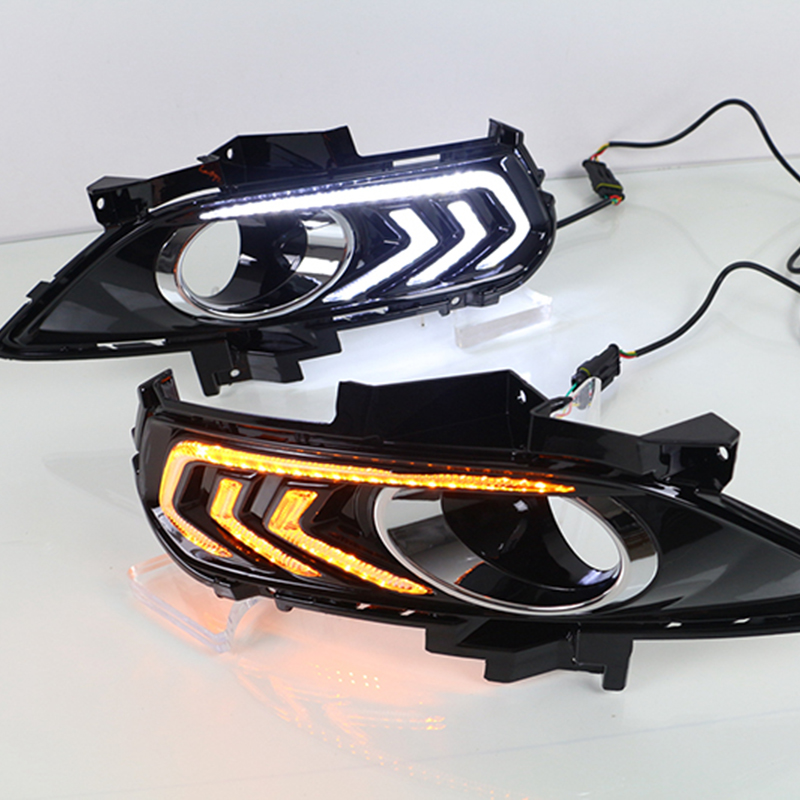 Car Flashing 2Pcs Led DRL Daytime Running Light For Ford Mondeo Fusion 2013 2014 2015 2016