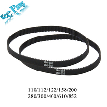 GT2 Timing Closed Loop Rubber Belt Part 110 112 122 158 200 280 300 400 610