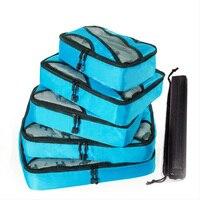 5PCS / set of high quality Oxford cloth travel net bag luggage storage travel bag bedroom finishing storage bag home travel set