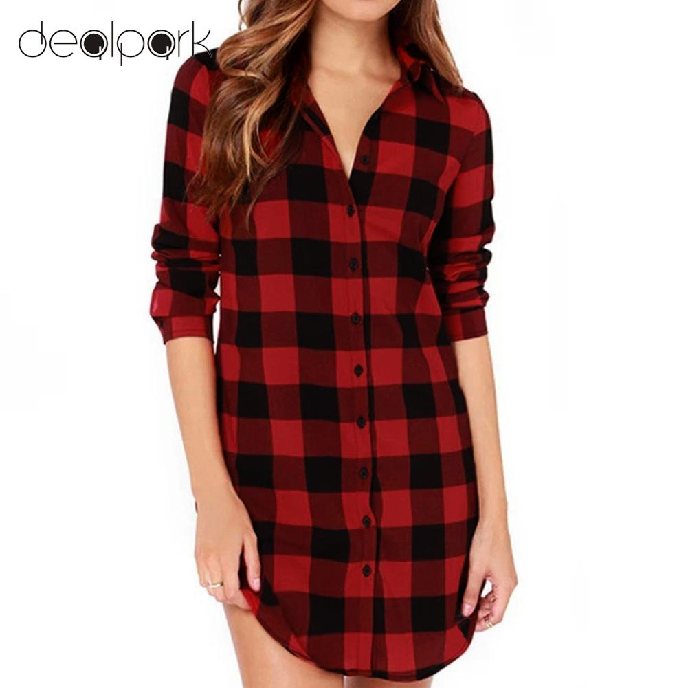 High Quality Red Black Check Shirt Women-Buy Cheap Red Black Check ...