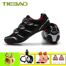 Tiebao Outdoor Cycling Shoes men women Road Bicycle Shoes pedals SPD-SL Self-locking Breathable road Cycling Bike Shoes Sneakers(China)
