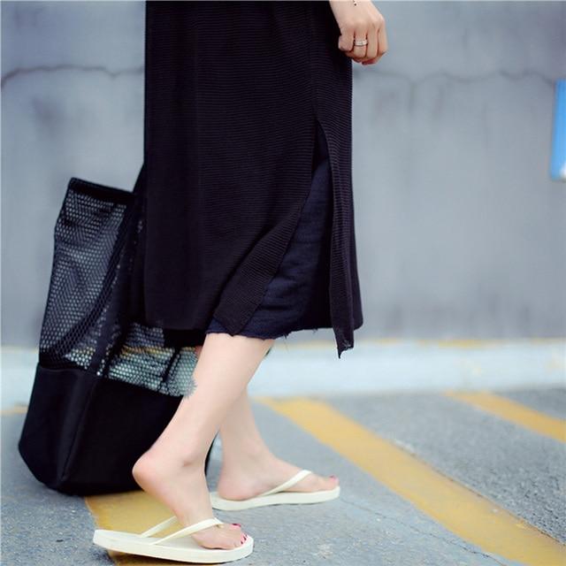 Mesh Hollow Reusable Canvas Shopping Bag 4