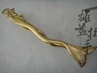 Chinese antique door glass door wooden door handle Modern Art Club Hotel Mermaid large gold handle