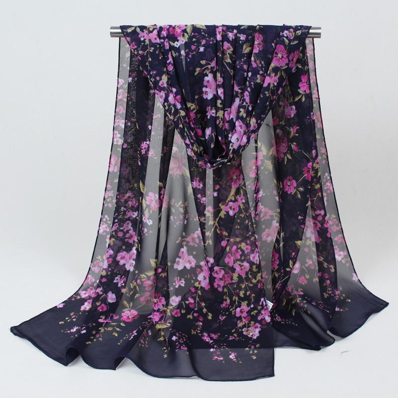 Sciarpe di seta lunghe nuove di modo chiffon 1PC 160cm * 50cm sciarpa - Accessori per vestiti - Fotografia 3